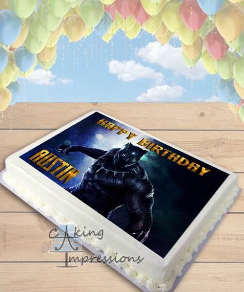 Black Panther Edible Image Sheet Cake Topper