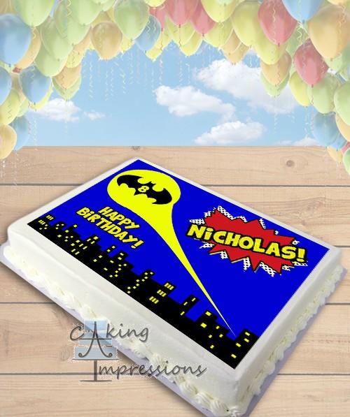 Batman Symbol Edible Frosting Image Cake Topper [SHEET]