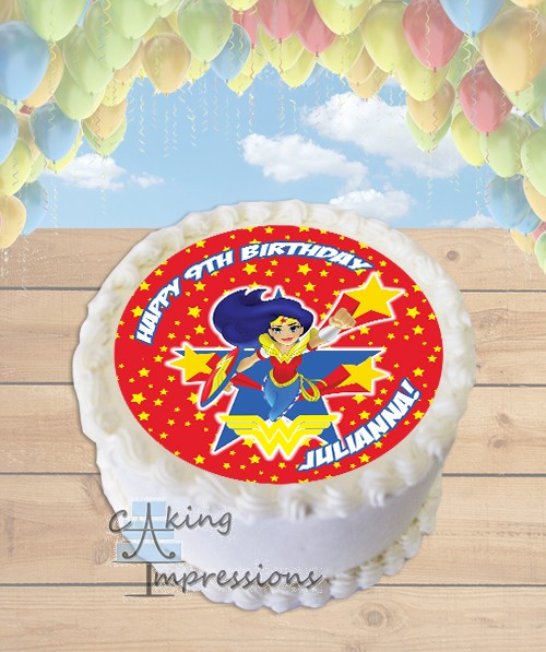 Inch Superhero Edible Cake Images
