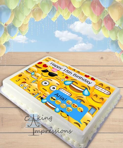 Emoji Text Message Edible Frosting Image Cake Topper SHEET
