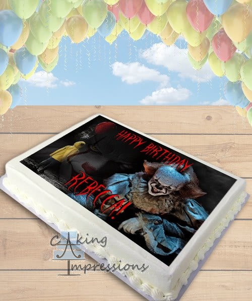 It Pennywise the Clown 2017 Horror Edible Frosting Image Cake Topper [SHEET]