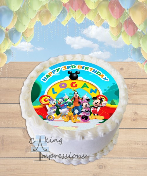 Mickey Mouse Clubhouse Edible Cake Images : Mickey Mouse Clubhouse Edible Image Round Cake Topper