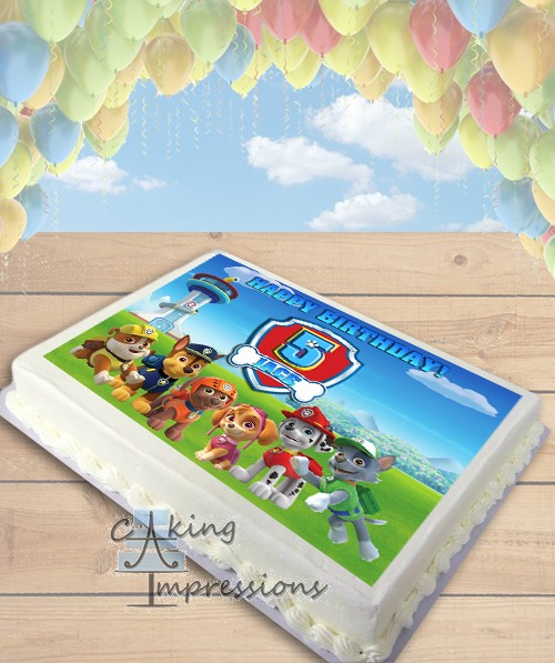 Paw Patrol All Dogs Edible Frosting Image Cake Topper [SHEET]