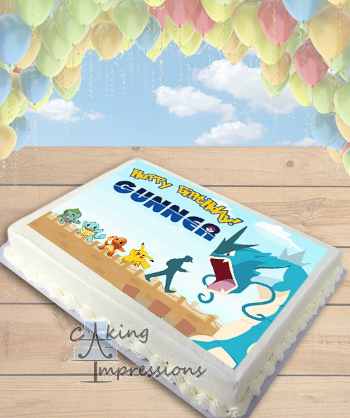 Edible Cake Decorations Sheets : Pokemon Go Edible Image Sheet Cake Topper