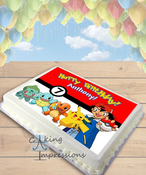 Edible Cake Images Pokemon : Pokemon Indigo League Edible Image Sheet Cake Topper