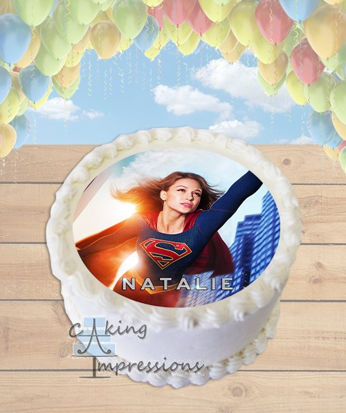 Cake Tv Show Reviews : Supergirl 2015 TV Show Edible Image Round Cake Topper