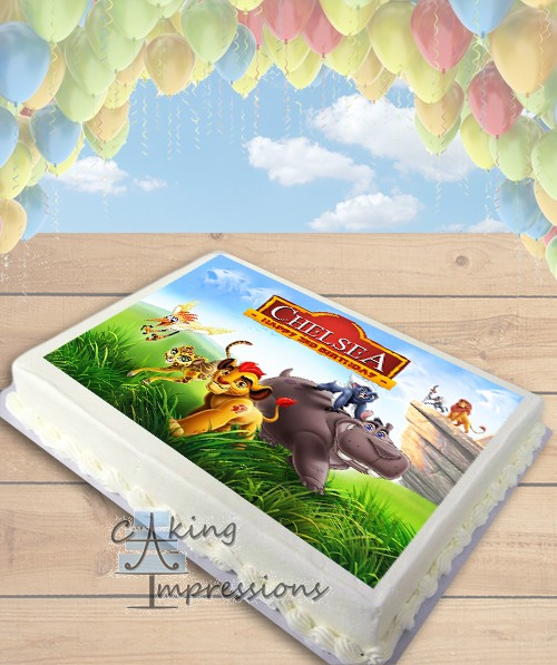 The Lion Guard Edible Image Sheet Cake Topper