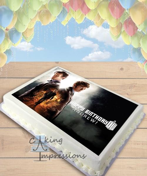 Doctor Who Edible Image Sheet Cake Topper