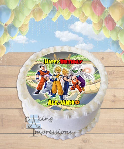Dragon Ball Z Edible Frosting Image Cake Topper ROUND