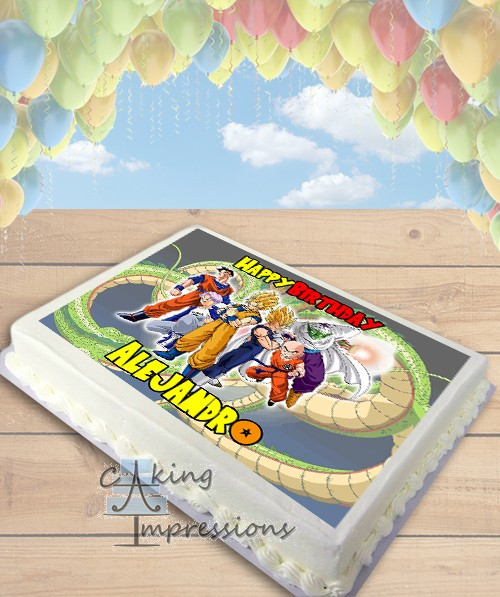 Dragon Ball Z Edible Image Sheet Cake Topper