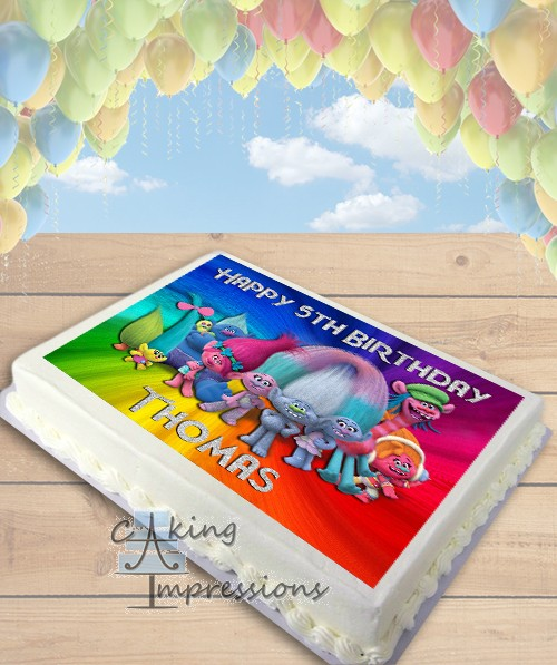 Trolls Movie Edible Frosting Image Cake Topper SHEET