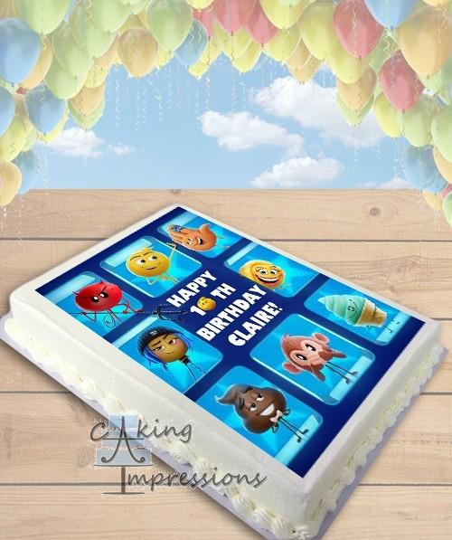 Emoji Movie Edible Frosting Image Cake Topper SHEET