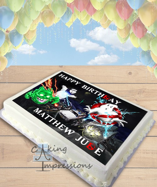 Ghostbusters Edible Image Sheet Cake Topper
