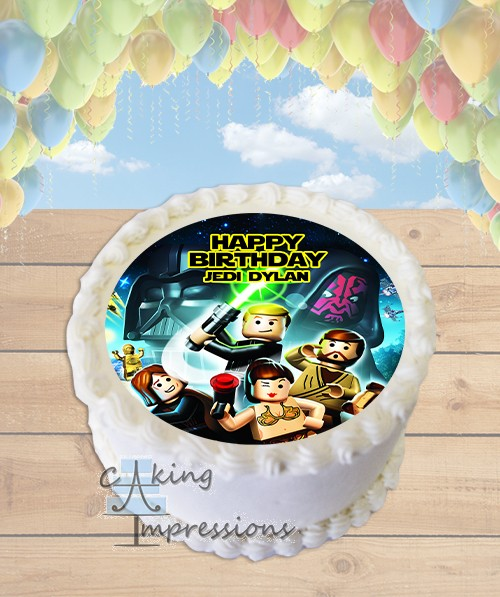 Lego Star Wars Edible Image Round Cake Topper