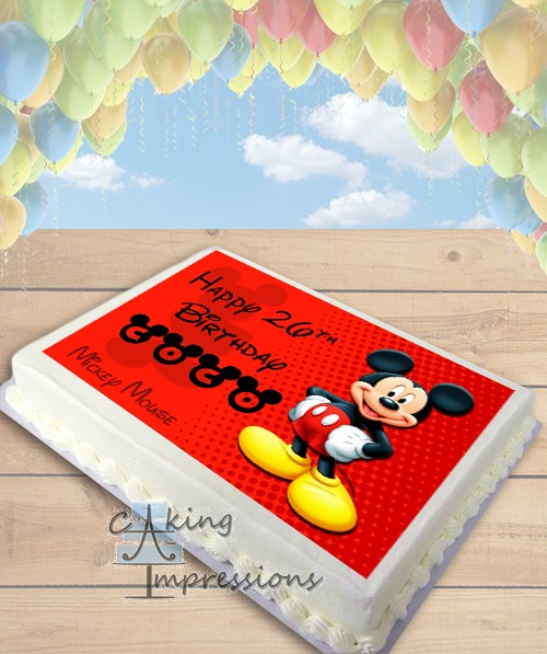 Mickey Mouse Edible Image Sheet Cake Topper