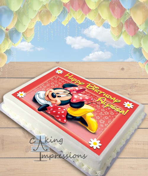 Minnie Mouse Edible Image Sheet Cake Topper