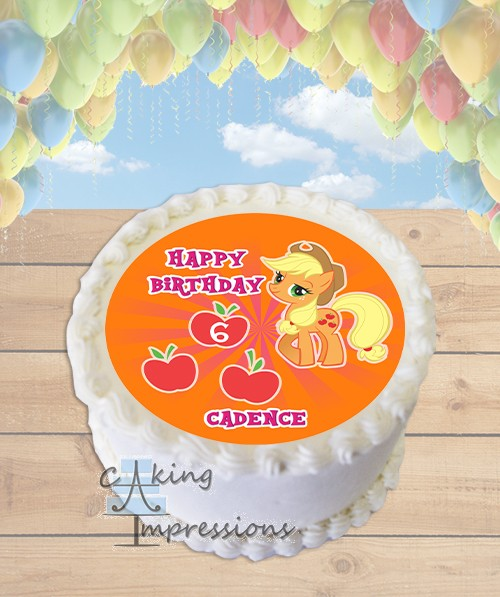 My Little Pony Applejack Edible Frosting Image Cake Topper ROUND