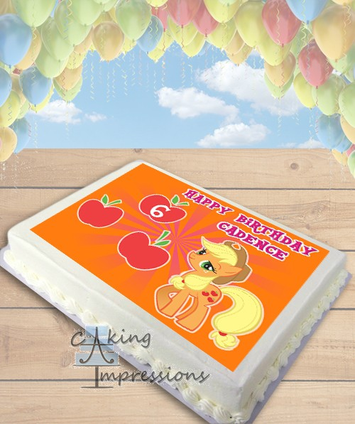 My Little Pony Applejack Edible Image Sheet Cake Topper