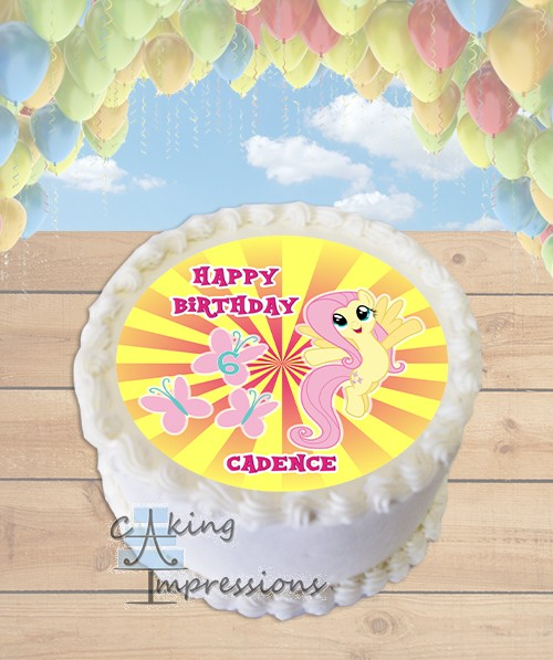 My Little Pony Fluttershy Edible Frosting Image Cake Topper ROUND