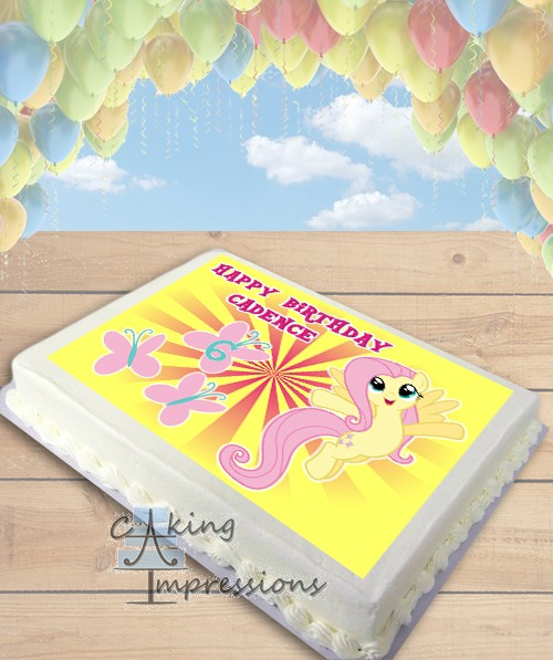 My Little Pony Fluttershy Edible Frosting Image Cake Topper SHEET