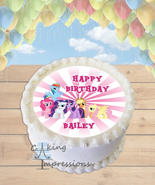 My Little Pony Friends Edible Frosting Image Cake Topper ROUND