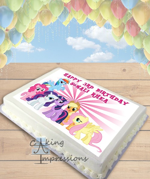My Little Pony Friends Edible Frosting Image Cake Topper SHEET