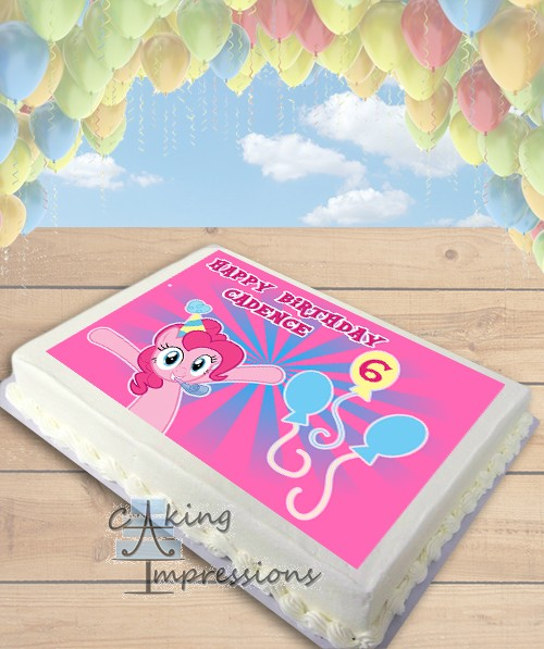 My Little Pony Pinkie Pie Edible Frosting Image Cake Topper SHEET