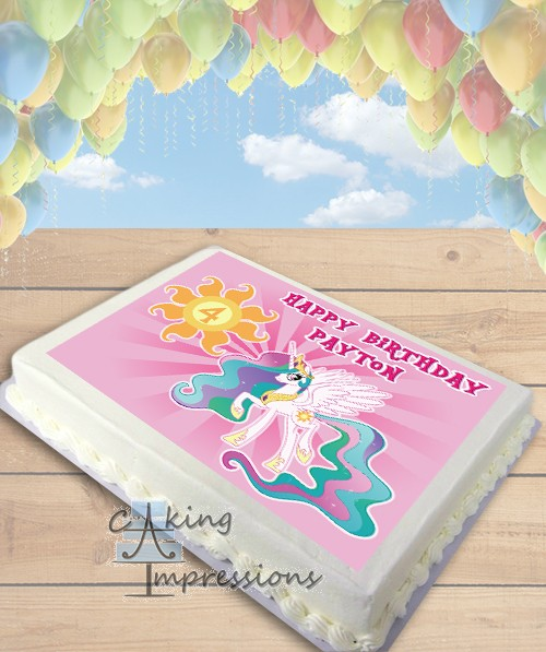 My Little Pony Princess Celestia Edible Frosting Image Cake Topper SHEET