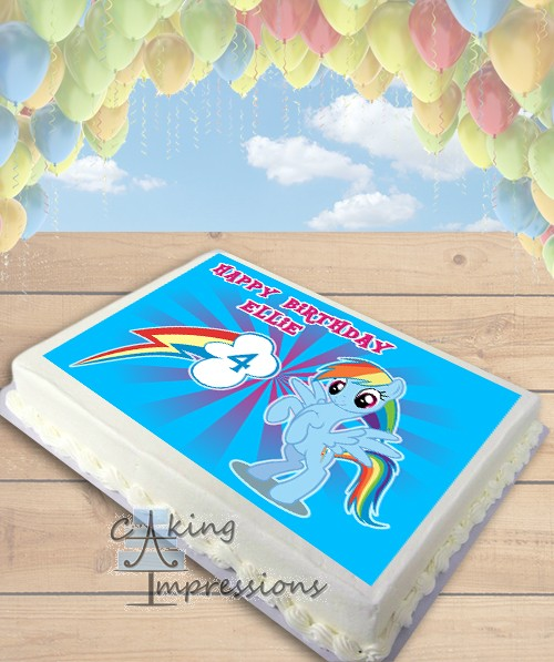 My Little Pony Rainbow Dash Edible Frosting Image Cake Topper SHEET