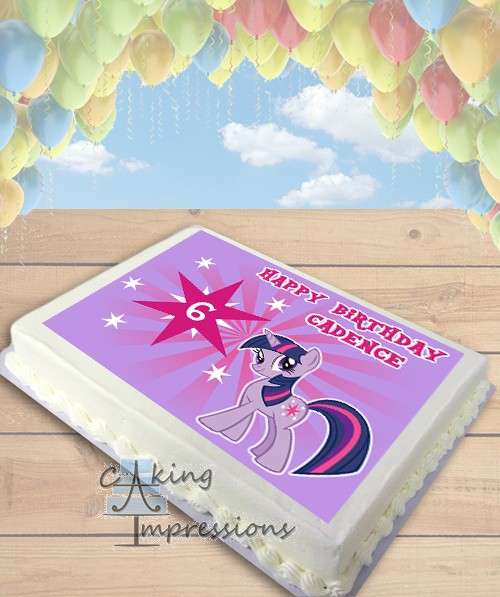 My Little Pony Twilight Sparkle Edible Image Sheet Cake Topper