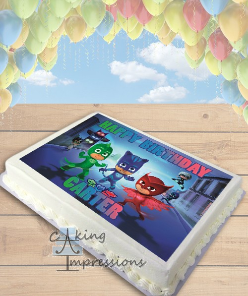 PJ Masks Edible Frosting Image Cake Topper SHEET