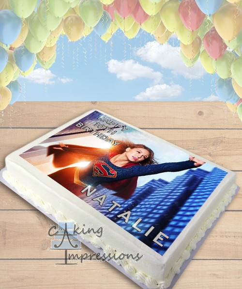 Supergirl 2015 TV Show Edible Image Sheet Cake Topper