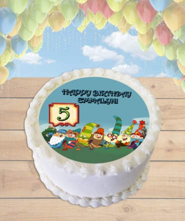 7D Dwarves Edible Frosting Image Cake Topper [ROUND]