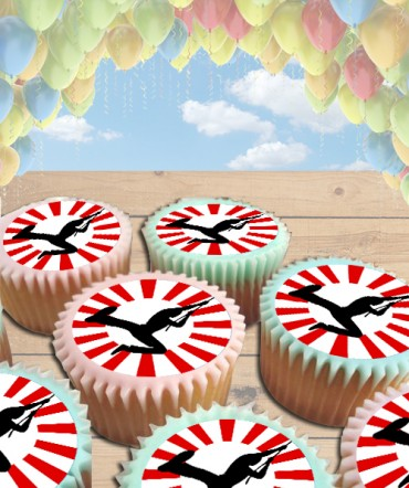 American Ninja Edible Frosting Image Cake Topper [CUPCAKES]