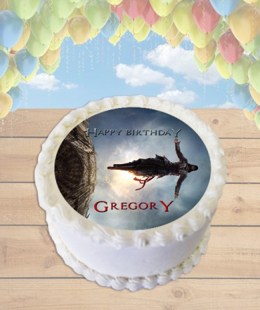 Assassin's Creed Movie Leap of Faith Edible Frosting Image Cake Topper [ROUND]