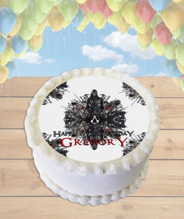 Assassin's Creed Movie Edible Frosting Image Cake Topper [ROUND]