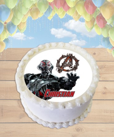 Age of Ultron Edible Frosting Image Cake Topper [ROUND]