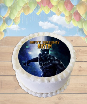 Black Panther Edible Frosting Image Cake Topper [ROUND]