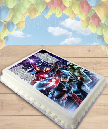Avengers Movie Edible Frosting Image Cake Topper [SHEET]