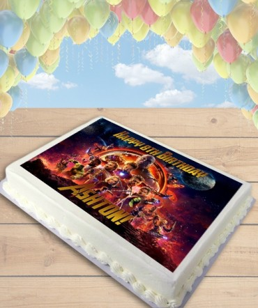Avengers Infinity War Edible Frosting Image Cake Topper [SHEET]