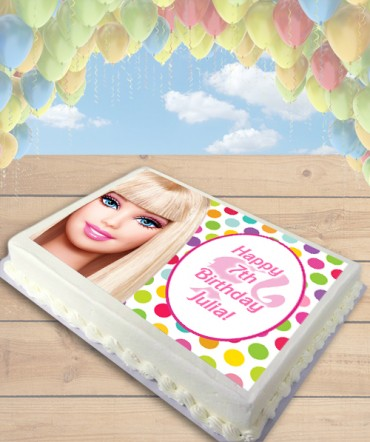 Barbie Doll Edible Frosting Image Cake Topper [SHEET]
