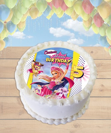 Barbie in Princess Power Edible Frosting Image Cake Topper [ROUND]