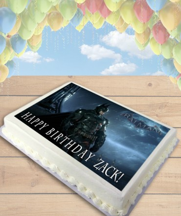 Batman Arkham Knight Edible Frosting Image Cake Topper [SHEET]