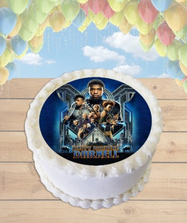 Black Panther Movie Edible Frosting Image Cake Topper [ROUND]