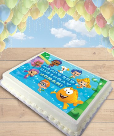 Bubble Guppies Edible Frosting Image Cake Topper [SHEET]