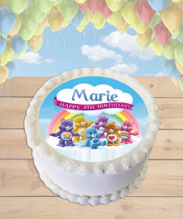 Care Bears Edible Frosting Image Cake Topper [ROUND]