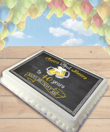 Cheers and Beers Edible Frosting Image Cake Topper [SHEET]