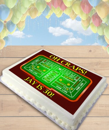 Oh Craps! Craps Table Edible Frosting Image Cake Topper [SHEET]