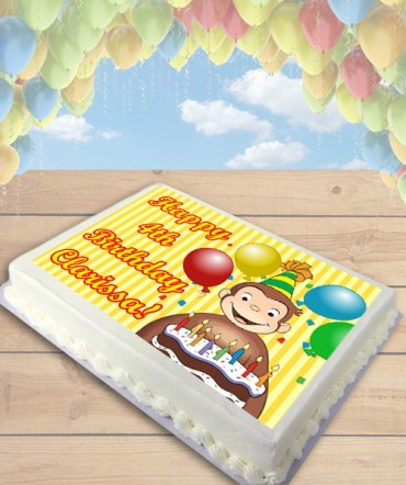 Curious George Edible Frosting Image Cake Topper [SHEET]