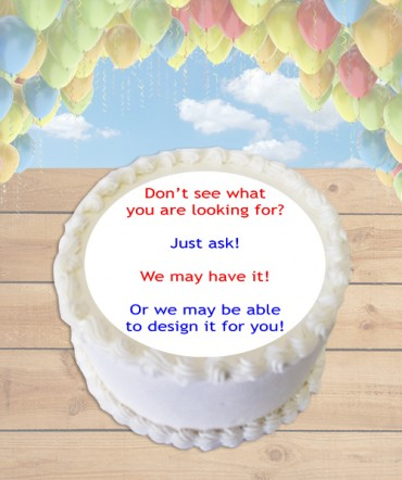 Custom Design Edible Frosting Image Cake Topper [ROUND]